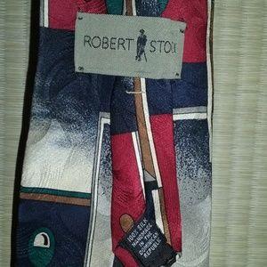 Robert Stock 100% silk tie